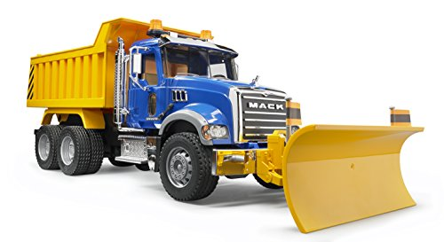 Bruder MACK Granite Dump Truck with Snow Plow -