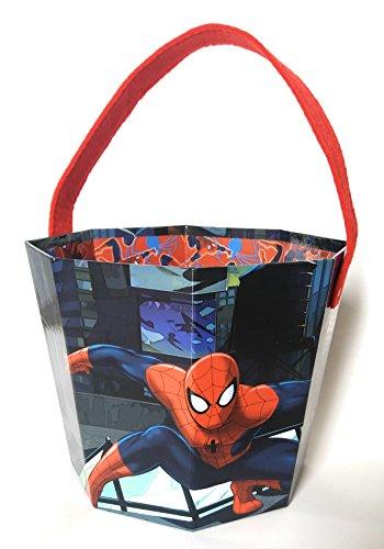 Spiderman Paperboard Bucket Superheroe Halloween Easter Hunt Party Decoration Candy Accesories