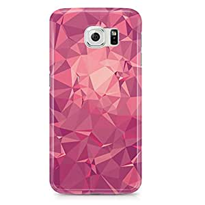Samsung S6 Case Pretty Pink Geomaterical Pattern-Light Weight Clear Edges Wrap Around Phone Cover