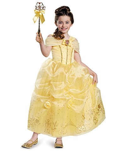 Belle Prestige Disney Princess Beauty & The Beast Costume, X-Small/3T-4T