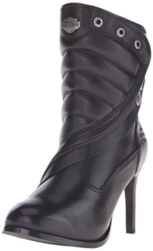 Harley-Davidson Women's Olanta Motorcycle Fashion Boot, Black, 7 M (Harley Davidson Boots Leather Heels)