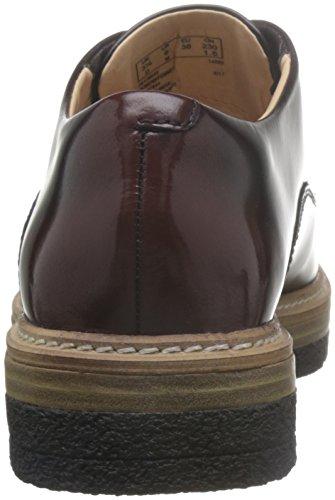 para de Mujer Clarks Burgundy Morado Vestir Zante Zapatos Leather Zara RYXtqp
