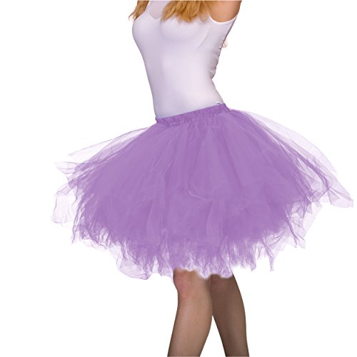 Dancina Tutus for Women Vintage Petticoat Tulle Skirt [XL] Regular 2-18 Lavender