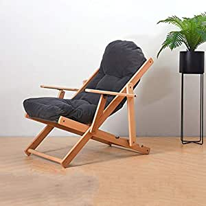 Amazon.com: Silla reclinable de madera maciza para adulto ...