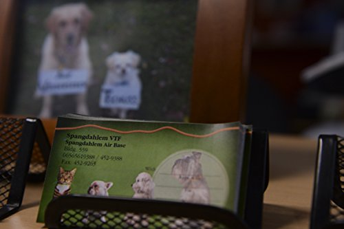 Laminated Poster Business cards are on display in the veterinary clinic at Spangdahlem Air