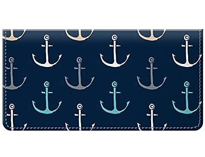 Snaptotes Nautical Anchor Design Checkbook Cover