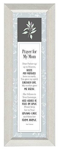 Prayer for My Mom 6 x 16 Inch Framed Hanging Wall Plaque