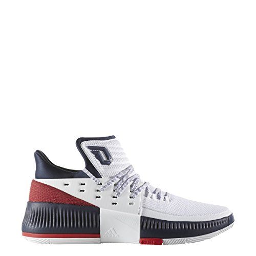 size 40 52ab4 7ed0a Galleon - Adidas Dame 3 Mens Basketball 8.5 White-Scarlet-Collegiate Navy