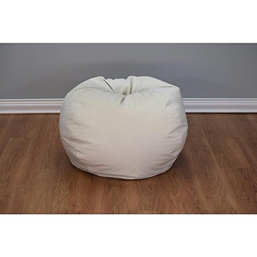 30 in. x 13 in. Sand Large Textured Velvet Bean Bag by Ace Bayou