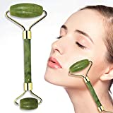 Jade Roller for Face, Roller Massager for Face/Eye/Neck (100% Natural Jade) Reduce Wrinkles Aging-Rejuvenate Your Skin (Color: Green)