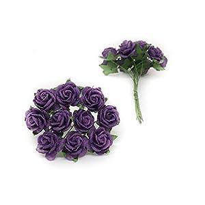 "1/2"" Plum Purple Mulberry Paper Flowers, Plum Paper Rose, Purple Flowers, Floral Crown Flowers, DIY Wedding, Wedding Decor, Wedding Table Flowers, Plum Wedding, Artificial Flowers, 50 Pieces 2"