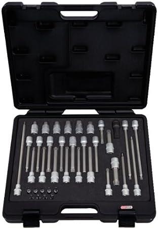 KS Tools 911.4500 Pack de 38 Piezas de bits con Adaptador para mecánico (tamaño: 1/4