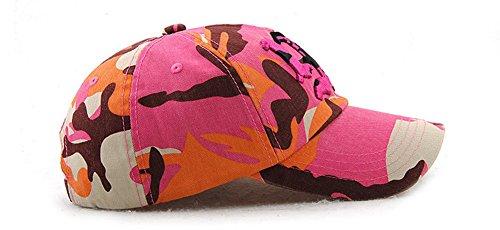 Algodón Bordado Yooeen Gorras béisbol Hombre Snapback Hat Ajustable de Mujer Gorra Hop Beisbol Clásico Militar de Hip Rosa A Camuflaje Cap Gorras Gorra 6rxqZ6