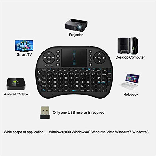 YIGEYI Cimva Mini Wireless Keyboard 2.4G with Touchpad Handheld for PC Android TV LYP The Perfect one for You (Color : Like The Picture)