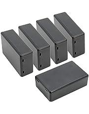 """LeMotech 5Pcs ABS Plastic Electrical Project Case Power Junction Box, Project Box Black 3.15"""" x 1.97"""" x 1.02""""(80 x 50x 26mm)"""
