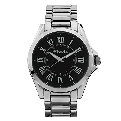 Eberle the best amazon price in savemoney eberle womens japanese quartz movement stainless steel fold over clasp and ip metal watchmodel fandeluxe Choice Image