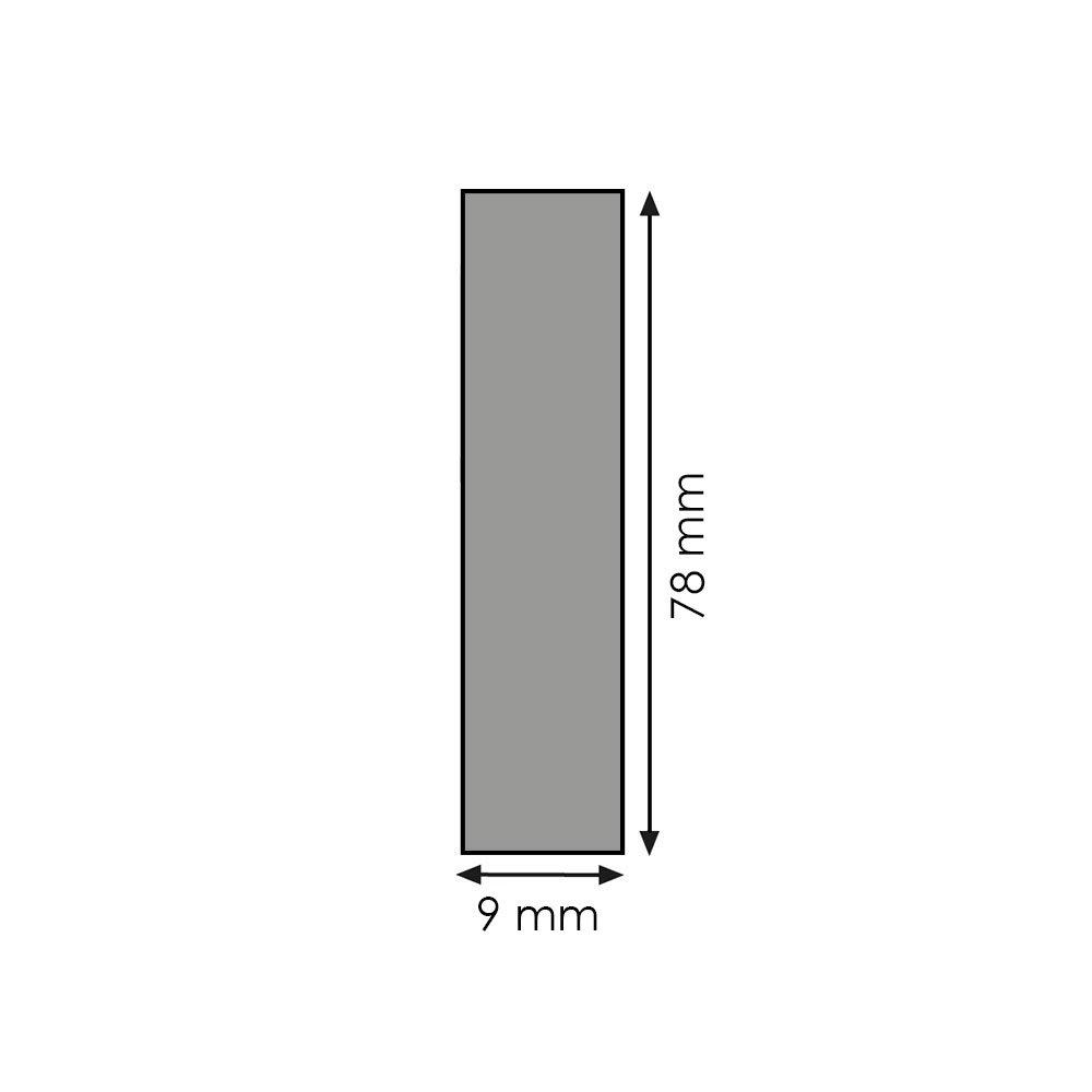 Rechteckleiste Bastelleiste Abschlussleiste Wandschutzleiste aus unbehandeltem Kiefer-Massivholz 2400 x 9 x 78 mm