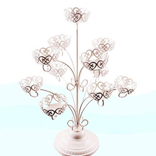 Vosarea Cupcake Stand 3-Tier 11 Cup Iron Cake Display Stand Decoration Wedding Birthday Partyfor Wedding Birthday Party by Vosarea (Image #8)