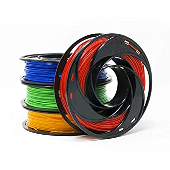 Gizmo Dorks PLA Filament for 3D Printers 3mm (2 85mm) 200g, 4 Color Pack -  Blue, Green, Orange, Red