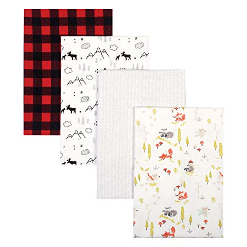 Trend Lab Buffalo Check Woodland 4 Pack Flannel Blankets