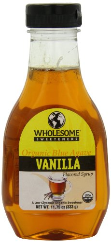 Les édulcorants sain organique Blue Agave, parfumé, bouteilles 11,75 onces Vanille (pack de 6)