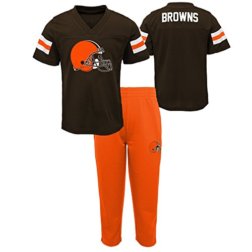 Outerstuff NFL NFL Cleveland Browns Infant Training Camp Short Sleeve Top & Pant Set Brown Suede, 12 Months