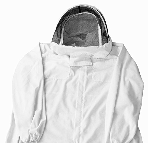 Professional Cotton Full Body Beekeeping Bee Keeping Suit With Veil Hood White #