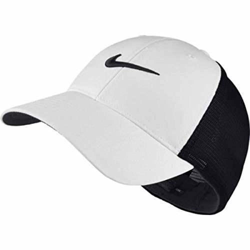 Mens Nike Legacy 91 Mesh Golf Hat L/XL White Black (Rising Flex Cap Fit)