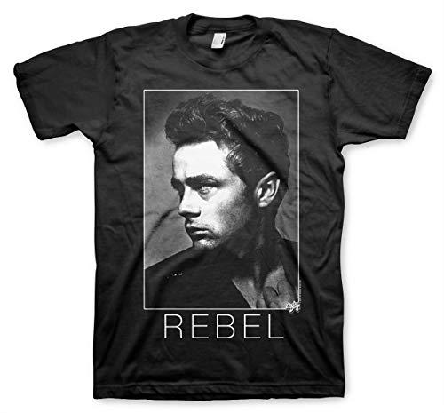 James Dean Rebel Without a Cause Portrait Official Tee T-Shirt Mens Unisex (Medium) Black