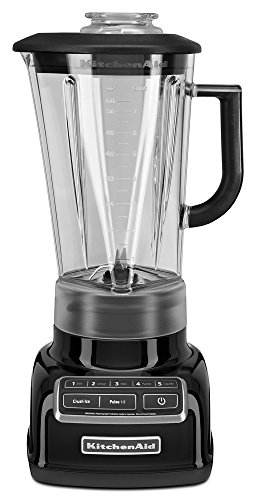 KitchenAid KSB1575OB 5-Speed Diamond Blender with 60-Ounce BPA-Free Pitcher - Onyx ()