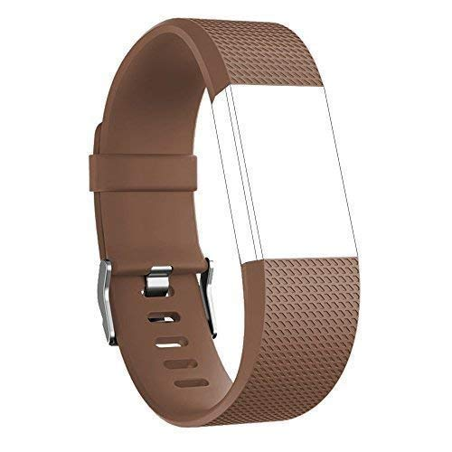 Nylea Fitbit Charge 2バンド[磁気ループ] – プレミアム品質ステンレススチールWrist Band for Fitbit Charge 2交換 – Bestブレスレット留め金ストラップ時計バンド B073V74CFM ブラウン