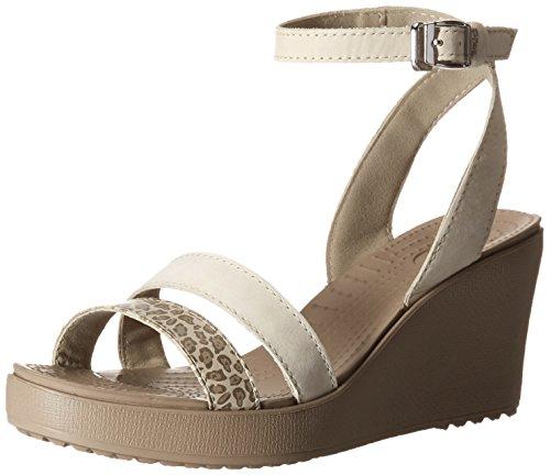 e829704d6976 Crocs Women s Leigh Leopard Print Wedge Sandal - Import It All