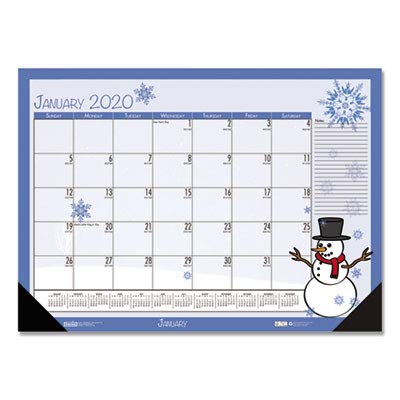 House of Doolittle 2019 Monthly Desk Pad Calendar, Seasonal, 18.5 x 13 Inches, January - December (HOD1396-19)