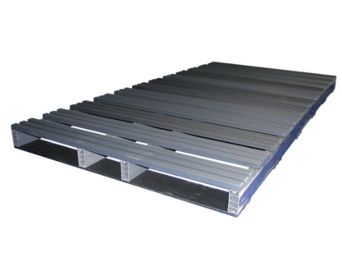 Jifram 05000147 96-Inch by 48-Inch 2-Way Heavy Duty Entry Recycled Plastic Pallet with 5000 Pound Weight Capacity