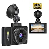 Dash Cam 4K Ultra HD 2160P Dashboard Camera and GPS Tracker with 170°