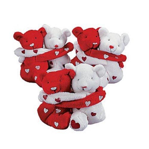 Bean Hugging Bag (Dozen Plush Hugging Valentine Bean Bag Bears - Bulk Valentine Gifts Novelties)