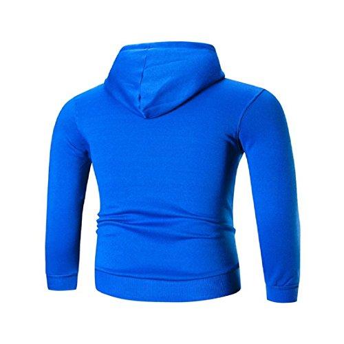 722554673f9c GONKOMA Mens  Long Sleeve Hoodie Pullover Letter Printed Hooded Sweatshirt  Causual Sport Tops