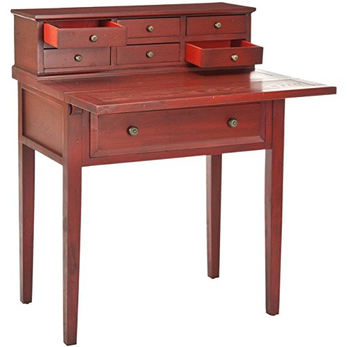 Safavieh American Homes Collection Abigail Cherry Fold Down Desk (With Sides Fold Down Table Small)
