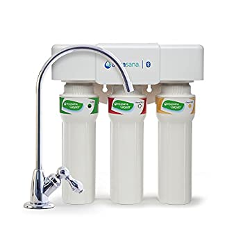 Image of Aquasana AQ-5300+.56 3-Stage Max Flow Under Sink Water Filter Home and Kitchen