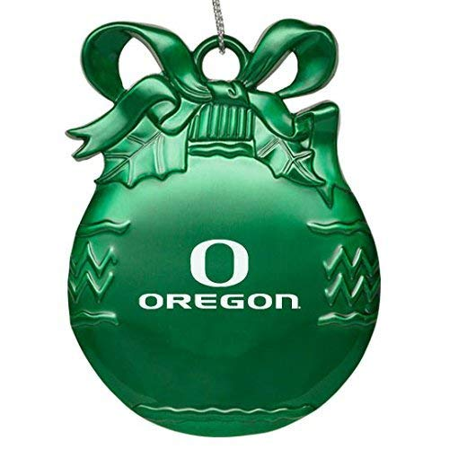 Pewter Christmas Tree Ornament Green University of Oregon