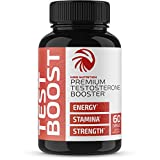 Nobi Nutrition Premium Testosterone Booster for Men - Male Enhancing Pills - Enlargement Supplement - Increase Size, Strength and Stamina - Energy, Mood, Endurance Test Boost - 60 Capsules