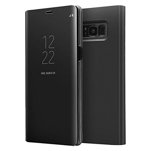 Original Cover - Galaxy S8 Plus S-View Flip Case, AICase OEM S View With Original Samsung Chip Touch Screen Auto Sleep/Wake up Clear Mirrow View Kickstand Standing Case for Samsung Galaxy S8+ 6.2''(Black)