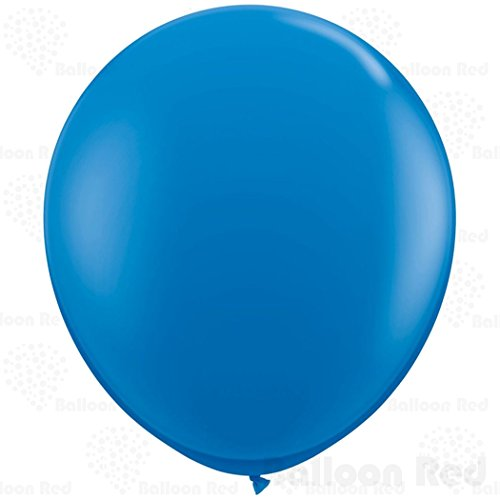 [36 Inch Giant Jumbo Latex Balloons (Premium Helium Quality), Pack of 24, Blue] (Super Easy Character Costumes)