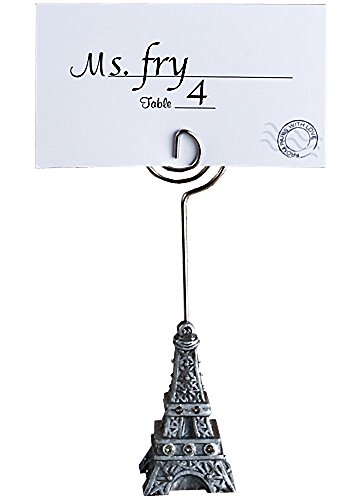 From Paris With Love Collection Eiffel Tower Place Card Holder Favors ()