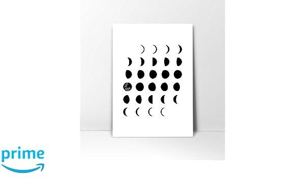 Amazon Moon Phases Wall Art Poster Phase Astronomy Print Scandinavian Nursery