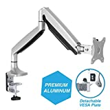 AVLT-Power Single Monitor Desk Mount Holds 20 lbs Ultrawide Screen - Height Adjustable Full Motion Articulating Gas Spring Arm for 13