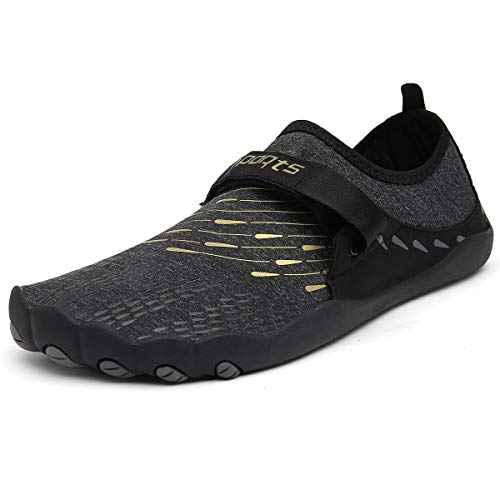 Zcoli Water Shoes Quick Dry Barefoot Beach Swim Surf Yoga Exercise for Men Women Gold