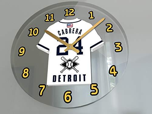 Miguel Cabrera Home Jersey - Baseball Wall Clocks - 12