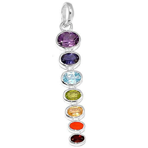 Xtremegems Healing Chakra 925 Sterling Silver Pendant Jewelry 2 1/4 CP125 from Xtremegems