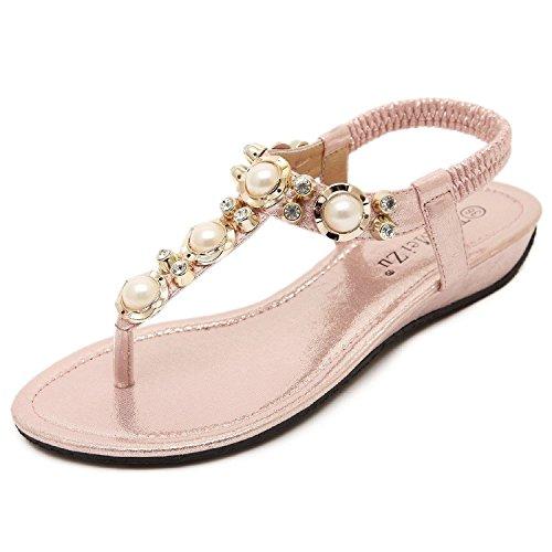 Mujer Minetom Estilo Nuevo Toe Zapatos Peep Sandalias Bohemio Verano Nm8nv0wO